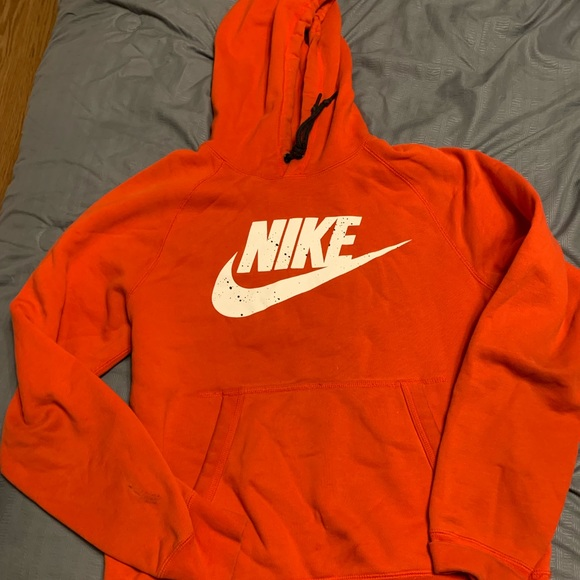 Men Red Nike hoodie